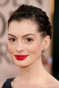 Anne Hathaway at the 63rd Annual Golden Globe Awards.