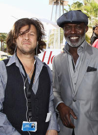 Limelight International Media Entertainment's Patrick Creamer and Eriq Ebouaney at the Hollywood Reporter cocktail party during the 64th Annual Cannes Film Festival in France.