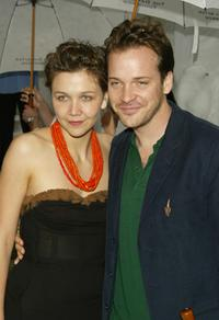 Maggie Gyllenhaal and Francisco Costa at the grand reopening of the New Museum.