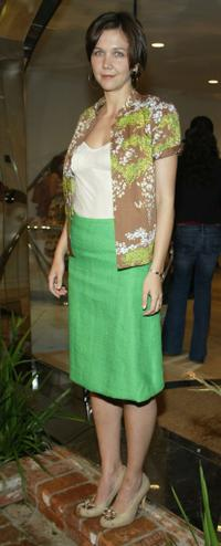 Maggie Gyllenhaal at the Boss Black Spring/Summer 2008 collection show.