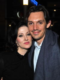Susan Montford and Lukas Haas at the premiere of
