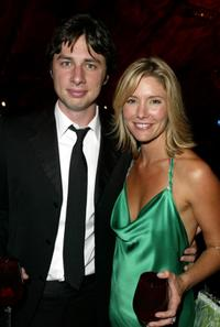 Zack Braff and Tava Smiley at the 56th Annual Primetime Emmy Awards.