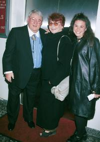 Buddy Hackett, Wife Shereen Dubois and his Daughter at the Friars Club tribute to actor/comedian Jan Murray.