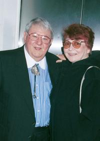 Buddy Hackett and his Wife Shereen Dubois at the Friars Club tribute to actor/comedian Jan Murray.