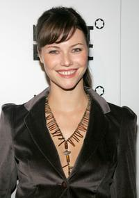 Melissa Sagemiller at the launch of Mont Blanc's first Women's jewelry collection party.