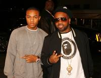 Bow Wow and producer Jermaine Dupri at the premiere of