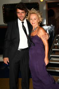 Adriano Giannini and Alberta Ferretti at the after party of