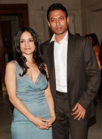 Archie Panjabi and Irfan Khan at the after party of the New York premiere of