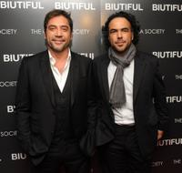 Javier Bardem and Alejandro Gonzalez Inarritu at the screening of