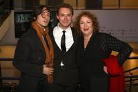 Carl Barat, JJ Feild and Pam Ferris at the world premiere of