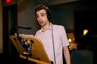 Jay Baruchel on the set of