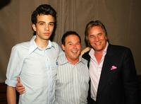 Jay Baruchel, Don Johnson and David Janollari at the WB Network stars party.