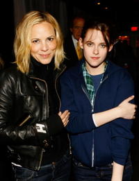 Maria Bello and Kristen Stewart at the 2008 Sundance Film Festival.