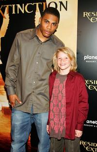 Nelly and Connor McCoy at the premiere of