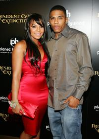 Ashanti and Nelly at the premiere of
