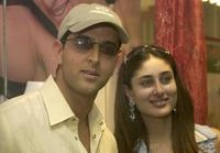 Hrithik Roshan and Kareena Kapoor at the launch of a new range of fashion and clothing accessories.