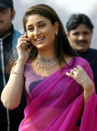 Kareena Kapoor at the shooting of