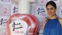 Kareena Kapoor at the launch of Anne French roll-on hair removing lotion.