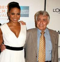 Sanaa Lathan and Philip Baker Hall at the premiere of