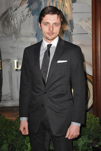 Raphael Personnaz at the Ralph Lauren dinner to celebrate the flagship opening in France.