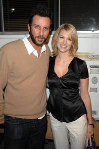 January Jones and guest at the premiere of