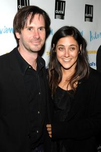 Josh Hamilton and Lily Thorne at the opening night party of