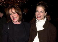 Linda Hamilton and Stockard Channing at the premiere of