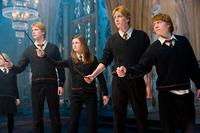 James Phelps, Bonnie Wright, Oliver Phelps and Rupert Grint in