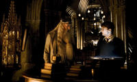 Michael Gambon and Daniel Radcliffe in