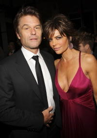 Harry Hamlin and Lisa Renna at the after-party for