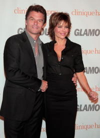 Harry Hamlin and Lisa Rinna at the Glamour Reel Moments party.