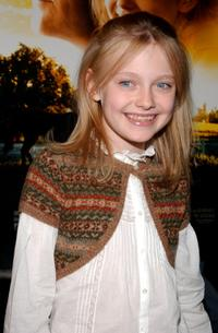 Dakota Fanning at the Dreamworks special fathers and daughters screening of