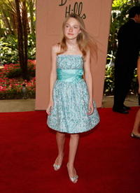 Dakota Fanning at the Hollywood Foreign Press Association's Annual summer luncheon.