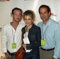 Jason Gray-Stanford, Bitty Schram and Tony Schalhoub at the USA Network's celebration.
