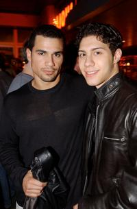 Franky G. and Leo Minaya at the party following a special screening of