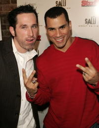 Darren Lynn Bousman and Franky G. at the DVD release party for the special uncut edition of