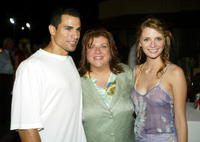 Franky G., Gail Berman and Mischa Barton at the 2004 Fox Network TCA Summer Party.