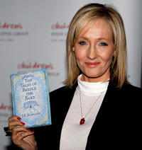 J.K. Rowling at the National Library in Scotland.