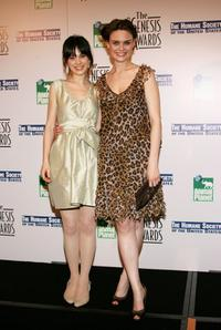 Zooey Deschanel and Emily Deschanel at the 20th Anniversary Genesis Awards.