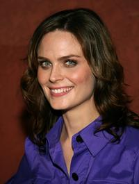 Emily Deschanel at the AIDS Healthcare Foundation Hot In Hollywood party.
