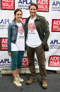 Meagan Boone and Sam Jaeger at the  26th Annual AIDS Walk Los Angeles.