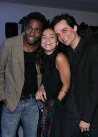Lazaro Ramos, Alice Braga and Wagner Moura at the Cidade Baixa (Lower City) after party during the 58th International Cannes Film Festival.