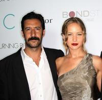 Jose Maria Yazpik and Jennifer Lawrence at the premiere of