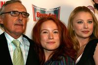 Dennis Hopper, Maria Thayer and Elisabeth Harnois at the opening of