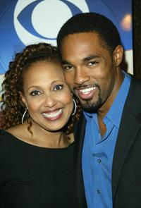 Thelma Hopkins and Jason Winston George at the NAACP Image Awards Cocktail reception.