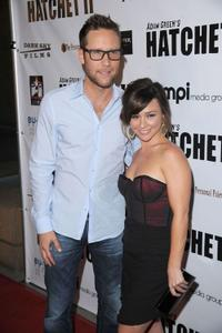 Michael Rosenbaum and Danielle Harris at the premiere of