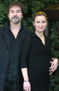 Olivier Marchal and Catherine Marchal at the photocall of