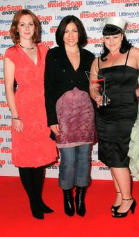 Laura Rogers, Liz May Brice and Victoria Bush at the Inside Soap Awards.