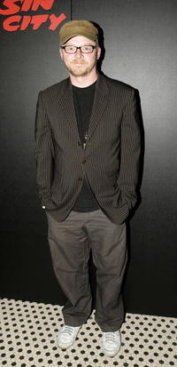 """Simon Pegg at the after party following the UK premiere of """"Sin City"""" in London, England."""
