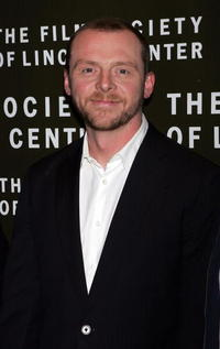"""Simon Pegg at a screening of """"Hot Fuzz"""" in New York City."""